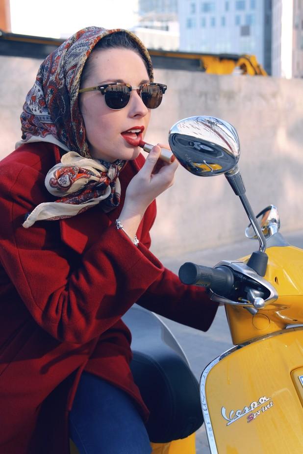 Ana and Vespa by mylittlebluesky - Showcase Lips Photo Contest