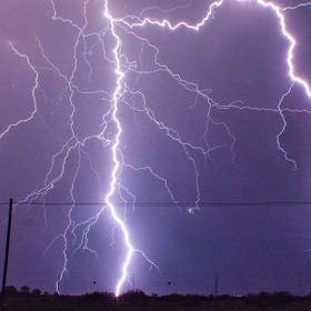 Lightning storm near my home town vryburg, south africa