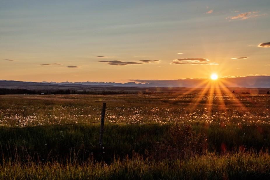 A summer time sunset.