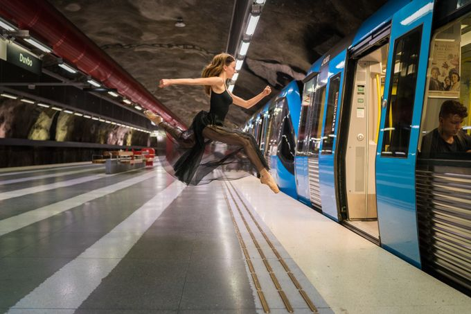 She made a run for the train by eraeber - Metro Stations Photo Contest