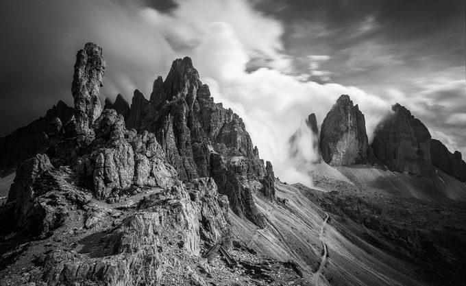 Rising up  by ramitdey - Black And White Mountain Peaks Photo Contest