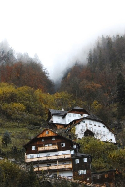 In Austria, I loved seeing these traditional chalet style houses settled into the mountainside everywhere you go.