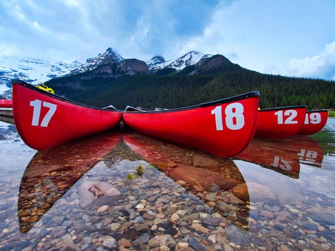 Four Canoes by JMBaker - Strong Foregrounds Photo Contest