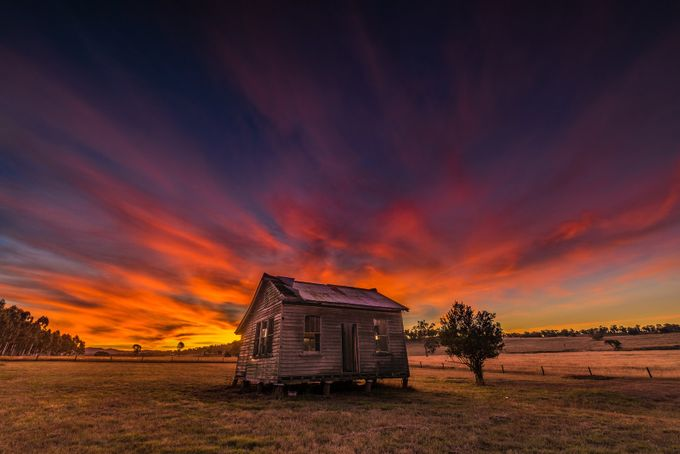!!! Fire in the Sky !!!  by bobbyd-skidmore - Isolated Cabins Photo Contest