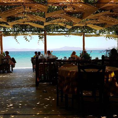 Photo taken inside Taverna Haravgi from the back.