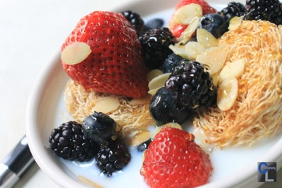 Honey Nut Shredded Wheat with Berries