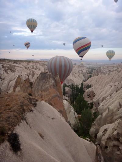 Up up and away, Balloons at Cappadocia.