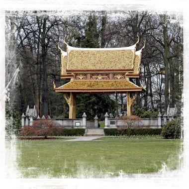 Chinese Pagoda in the Kür Park at Bad Homberg , Germany