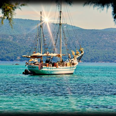 Posidonio Bay, Samos,Greece.