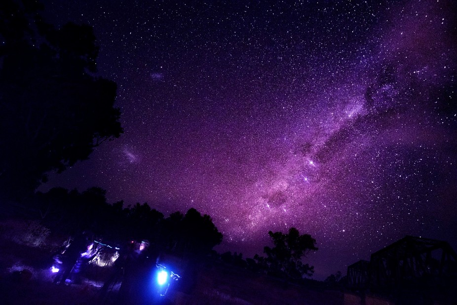 A photo taken whilst attending a Master Class on learning Astrophotography and post processing. (...