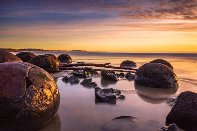 Moeraki by Sunrise by Tiephotography - The First Light Photo Contest