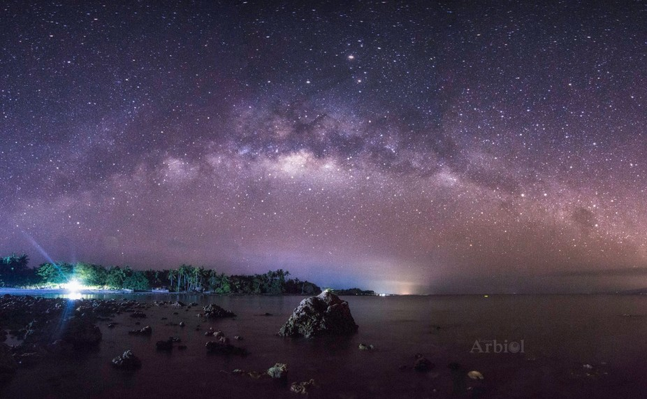 Taken May 5, 2016  My very first attempt of shooting the milky way Dolores Beach Resort, Barangay...