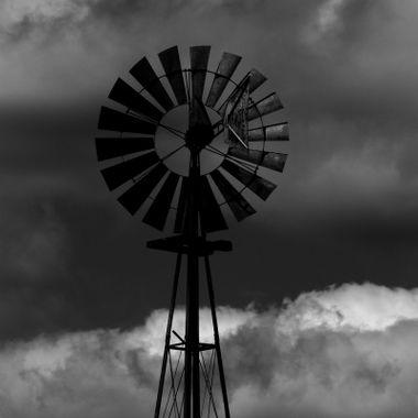 Windmill Awaiting Storm
