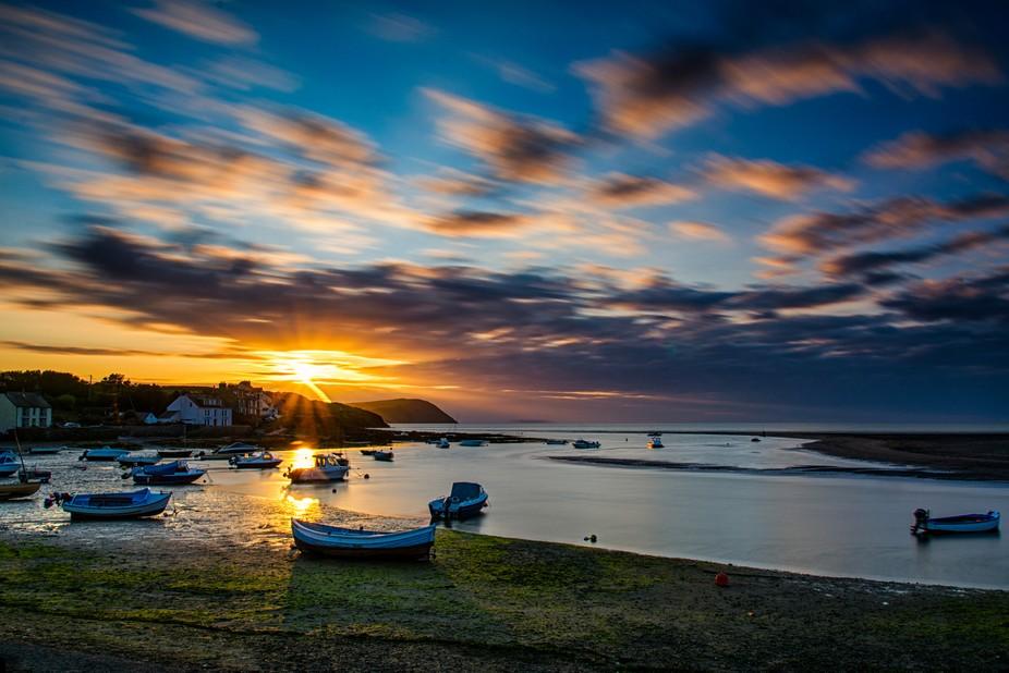 The Parrog Newport Pembrokeshire at Sunset...