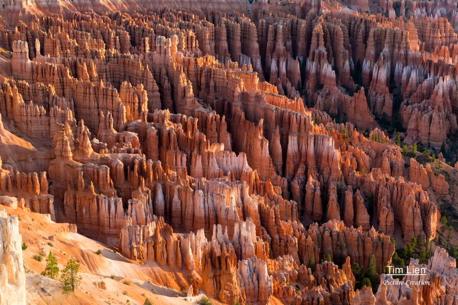 Sunrise in Bryce Canyon National Park.
