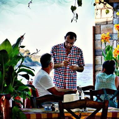 Waiter at a Greek Taverna,