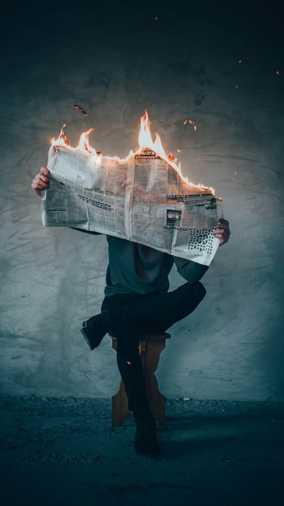 Fire News by Elijah_sad - Creative Reality Photo Contest