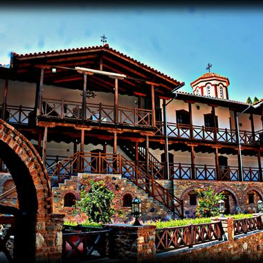 The beautiful monastery on Samos above Ireon.