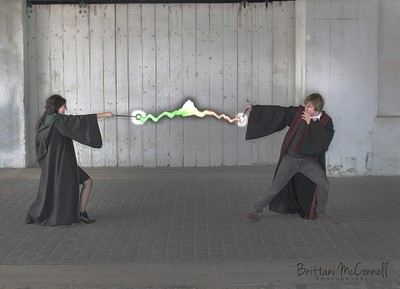 Harry Potter Themed Cosplay (Slytherin vs Griffyndor)