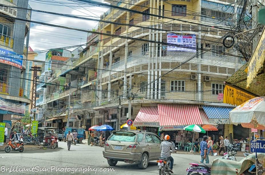 Street scene in Phnom Penh, Cambodia