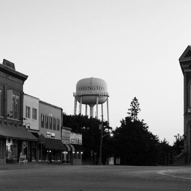 Small town bw