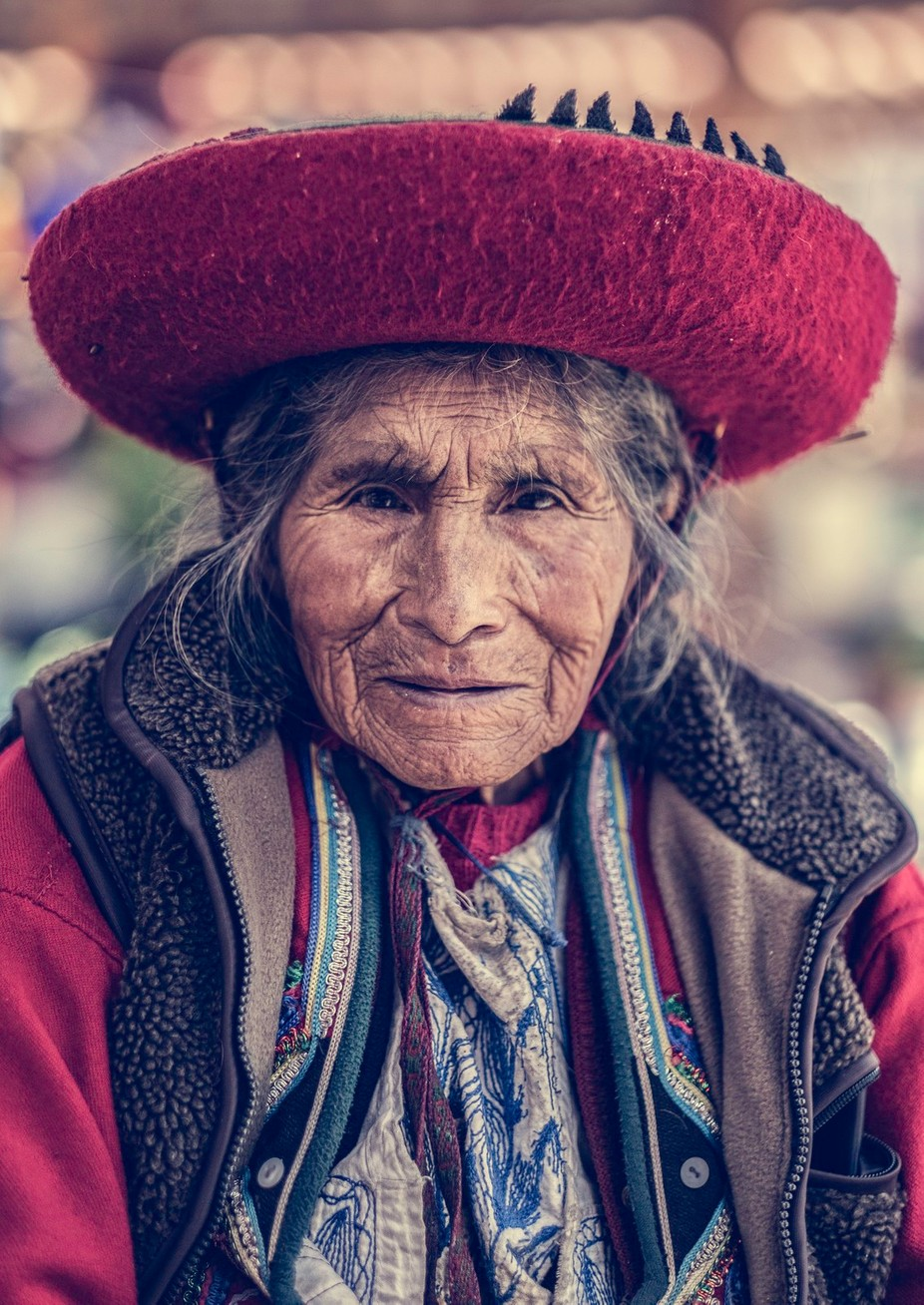 chinchero market lady by pedropulido - It Is Red Photo Contest