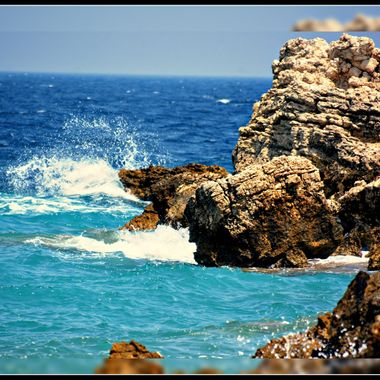 rocks in the Sea at Kokarri, Samos.