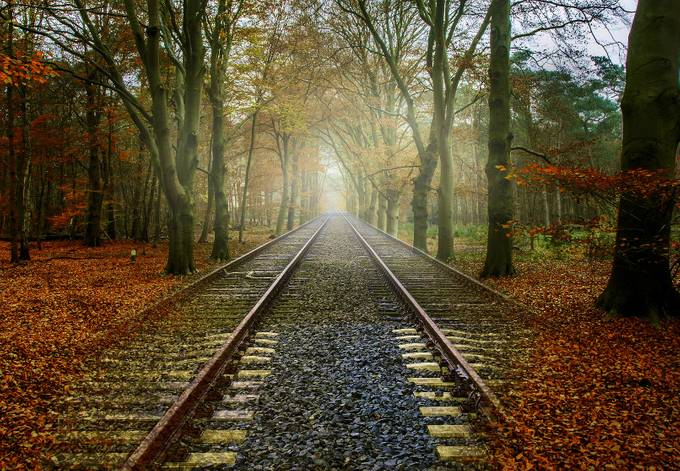 Lonesome railway by leslie57 - Empty Railways Photo Contest