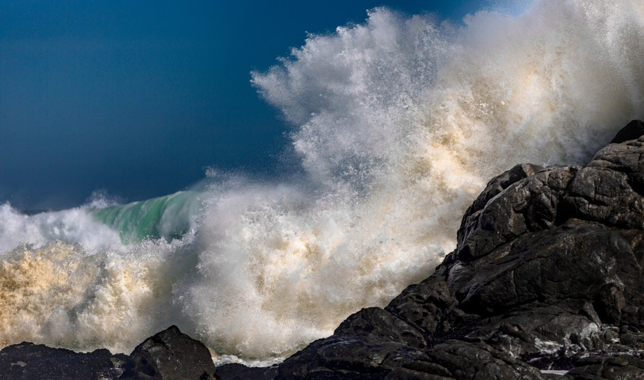 Taken in the West Coast National park in The Western Cape, South Africa. The waves had massive am...