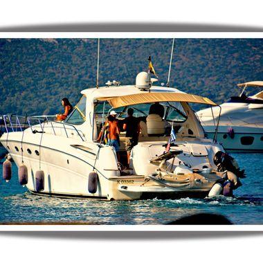 Boat at Posidonio Bay.
