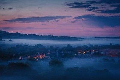 Dawn over Corfe