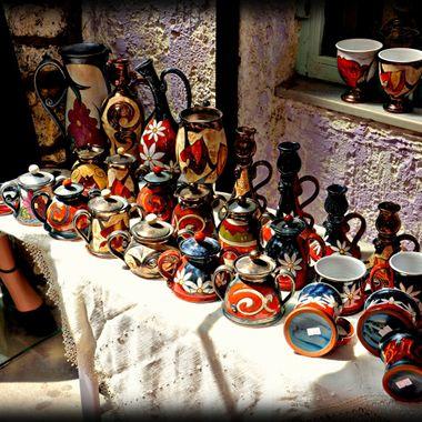 Beautiful Greek pottery / ceramics from samos Island.