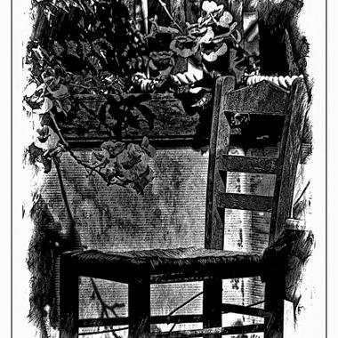 Greek Chair & flowers as shown.