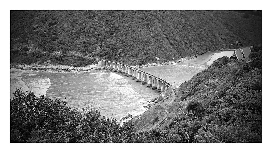 Abandoned railway in the Wilderness area  crossing the Kaaimans river.Picture was taken in  the W...
