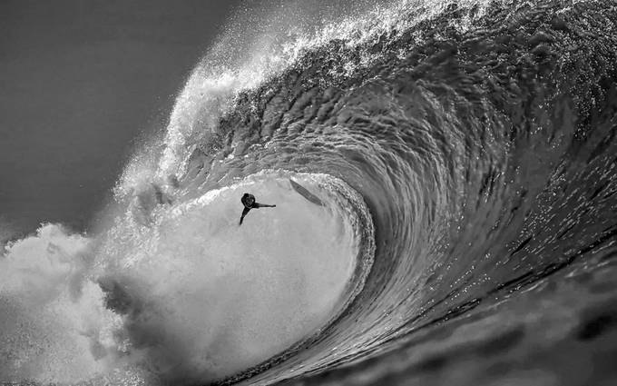 Big Wipe out by SteveC_Photography - Black And White Compositions Photo Contest vol2