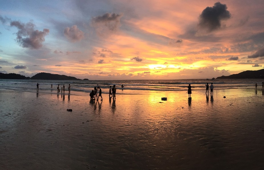 I've heard and read and saw about tropical sunsets being just beyond something the human...