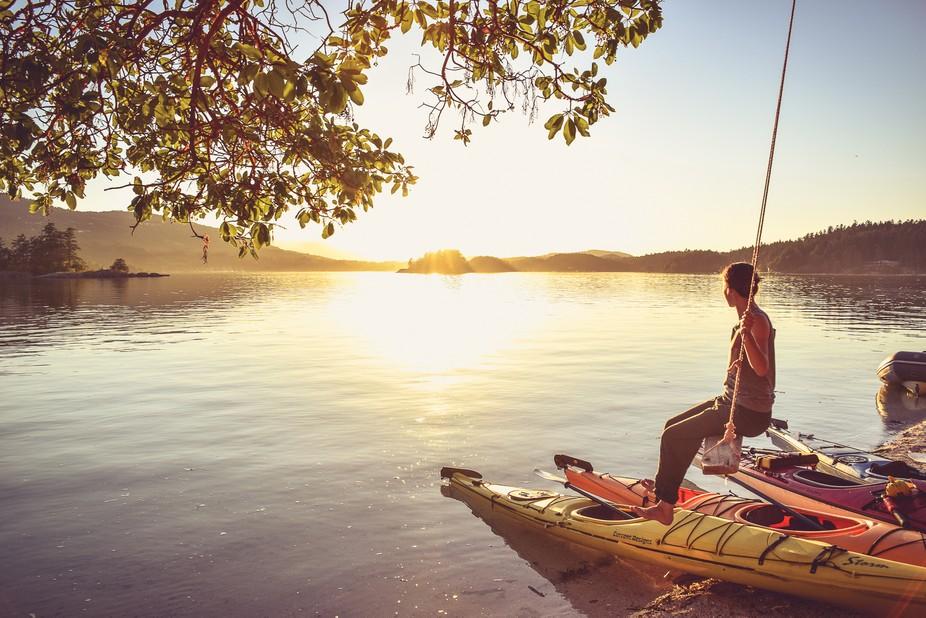 We spent the afternoon ocean kayaking off of salt spring island. At sunset we paddled upon a priv...