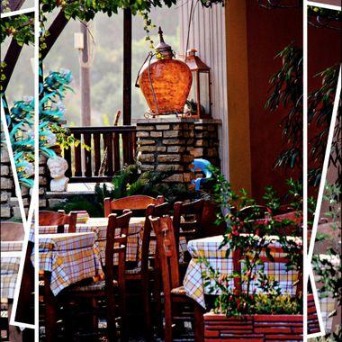 Photo of a quaint Greek Restaurant.