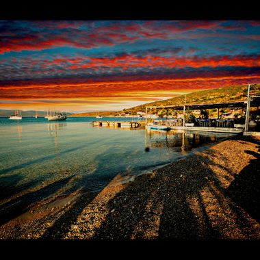 Manipulated image of Posidonio Bay.