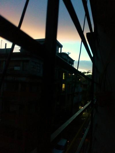 colourful evening sky