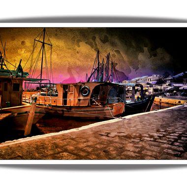 Pithagorio Harbour as an Art piece.