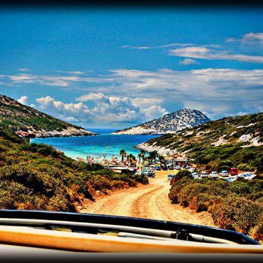 Livadaki beach on the Greek Island of Samos.