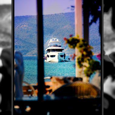 White Boat moored at Posidonio.