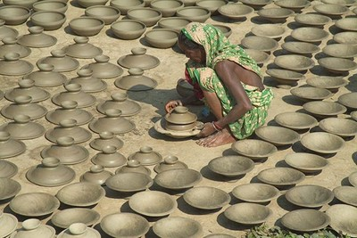 Potters Village in the Sunderban islands. Bangladesh.