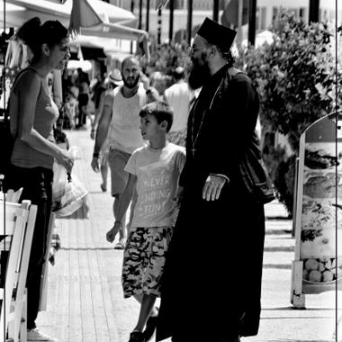 Greek priest in Samos Town.