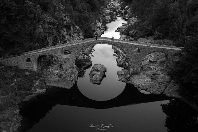 Devil's bridge in B&W by rumenzografov - Composing With Circles Photo Contest