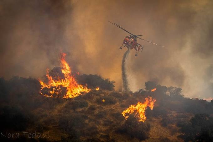 La Tuna Canyon fire - LAFD Erickson Aircrane helitanker by Nora-Feddal - Shooting Fire Photo Contest