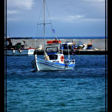 Boat in Kokarri Harbour.