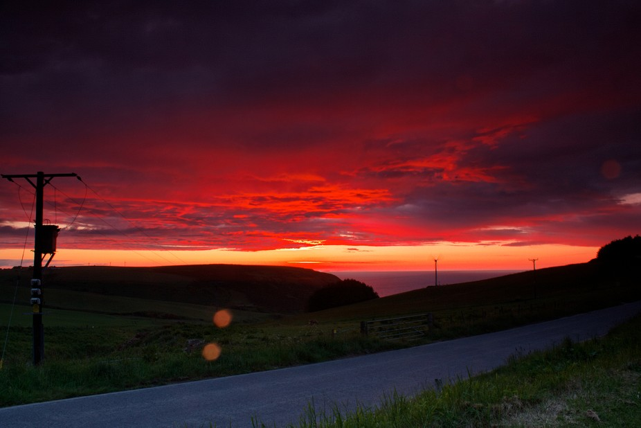 I had never seen a sky so red as this one , unfortunately its not very sharp but dint have time f...