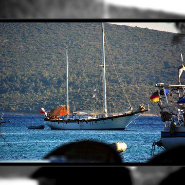 A fine sailing boat at Posidonio, Samos.